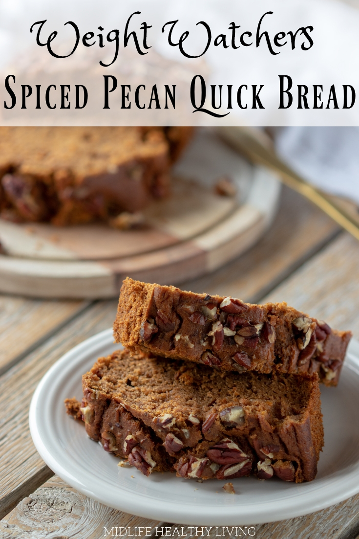 ThisWeight WatchersSpiced Pecan Bread is so delicious and easy to make. It comes out perfectly every time!Try out this easy quick bread recipe today!