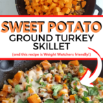 Image showing the finished weight watchers sweet potato turkey skillet.