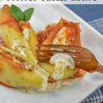 Stuffed shells are a classic Italian dish, comfort food at its best! This is a Weight Watchers stuffed shells recipe that's lighter but still very indulgent and perfect for family dinner!