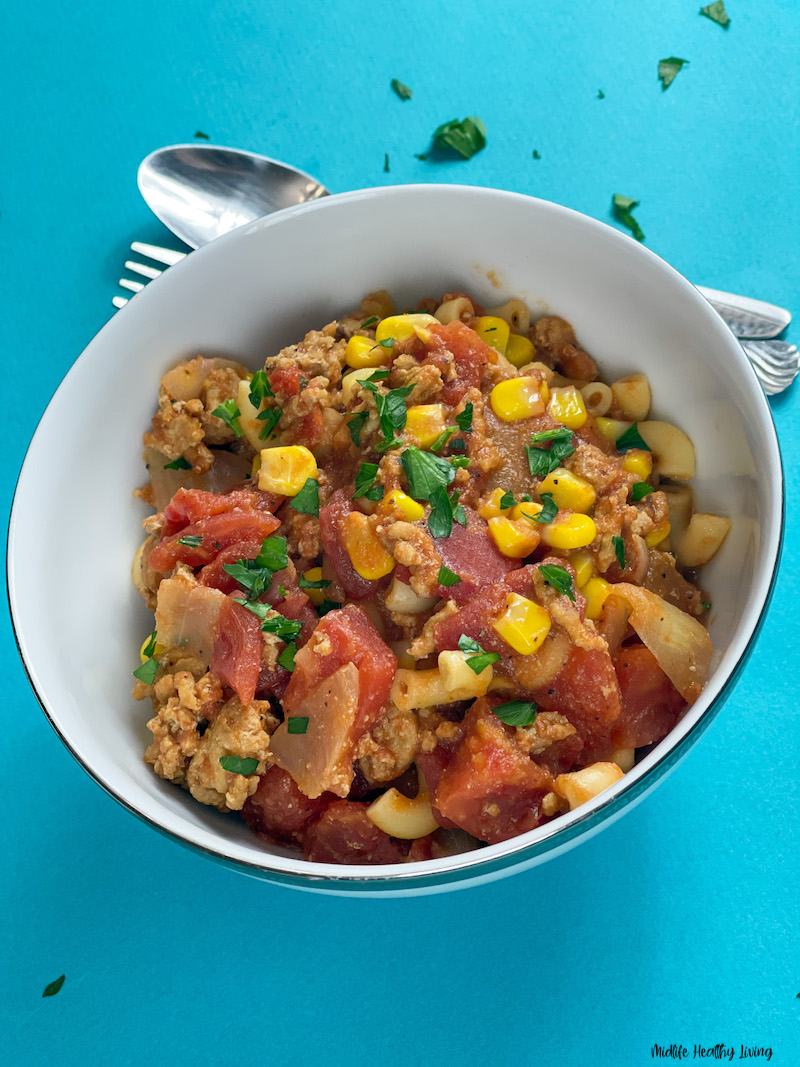 a look at the finished weight watchers goulash recipe ready to eat.