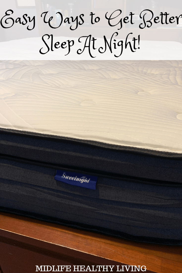 Sweetnight mattress review pin with title at top and image of the mattress in the bed frame.