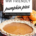 pin showing the finished pumpkin pie with title at the top of the image.