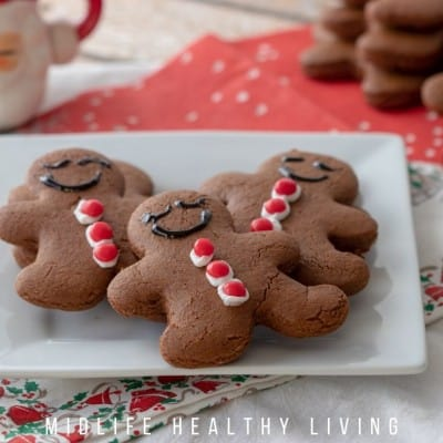 feature image showing finished gingerbread men cookies