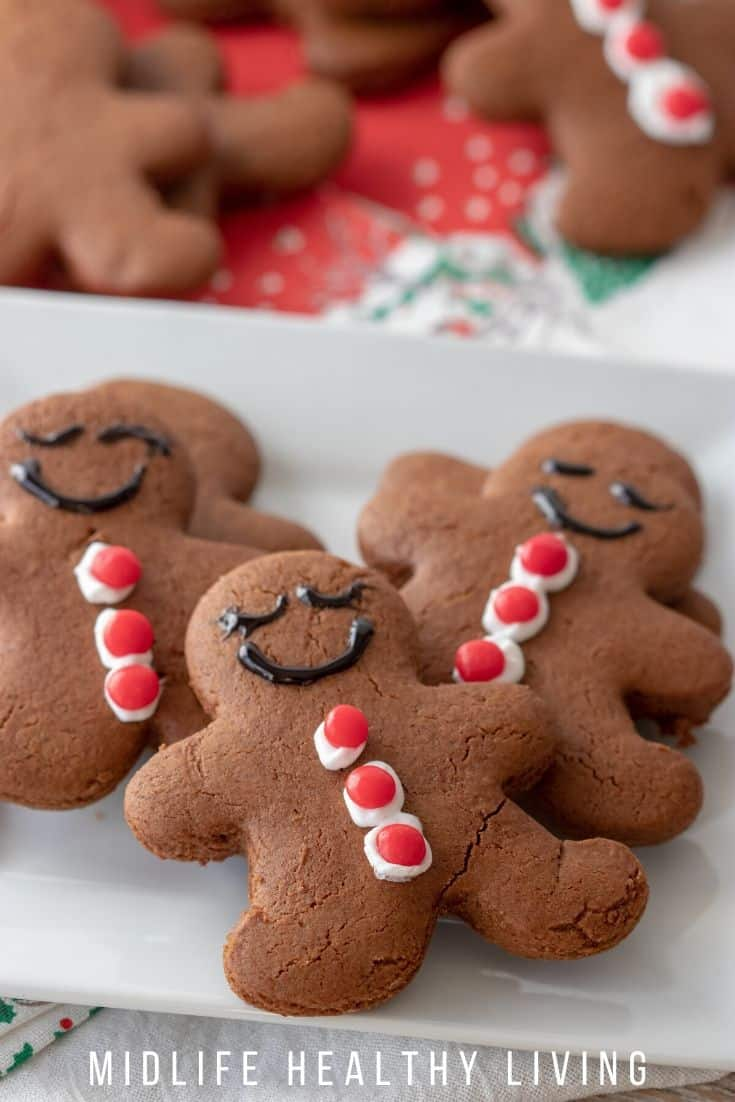 Finished gingerbread people cookies