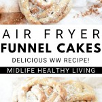 Pin for funnel cakes recipe