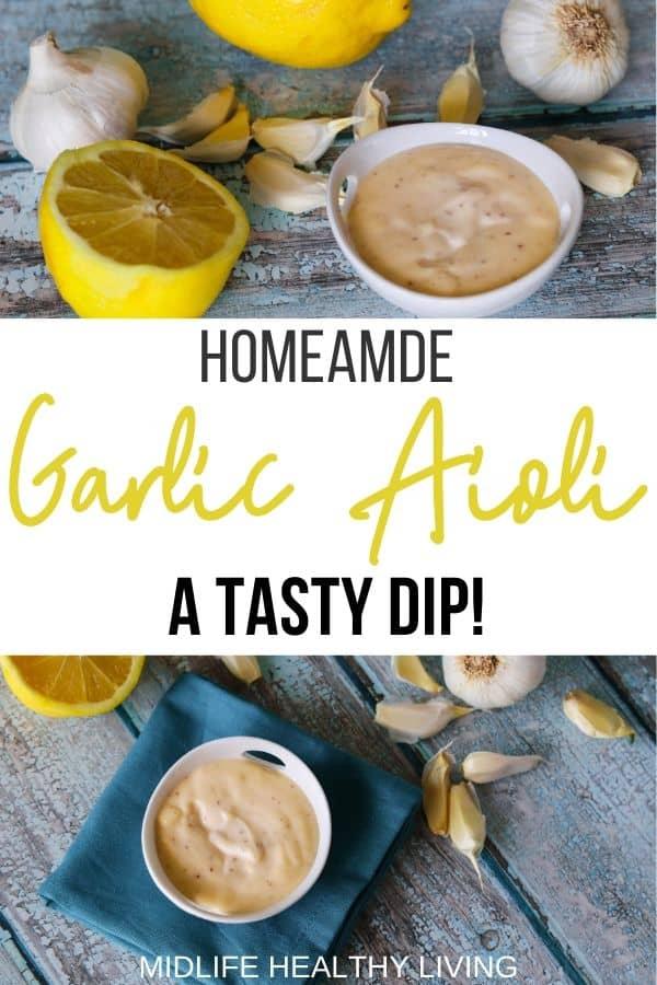 Finished garlic aioli sauce.
