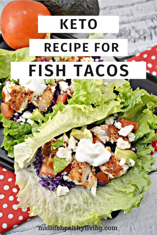 Another pin for the recipe for fish tacos. Finished taco shown
