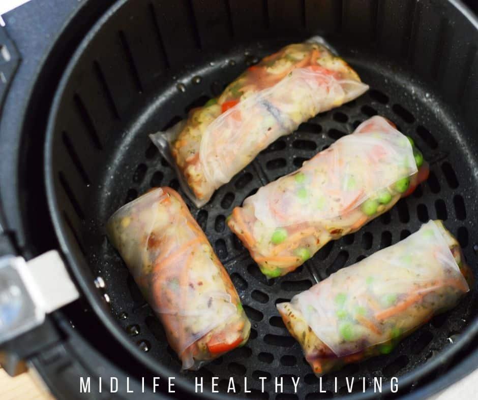 shrimp spring rolls in the air fryer