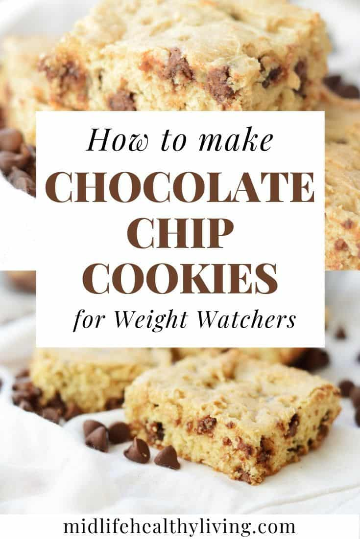 Another pin showing how to make chocolate chip cookies for WW.