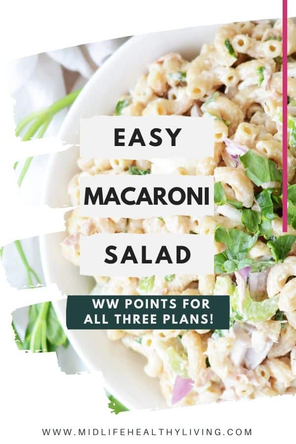 Another pin for the easy macaroni salad for Weight Watchers.