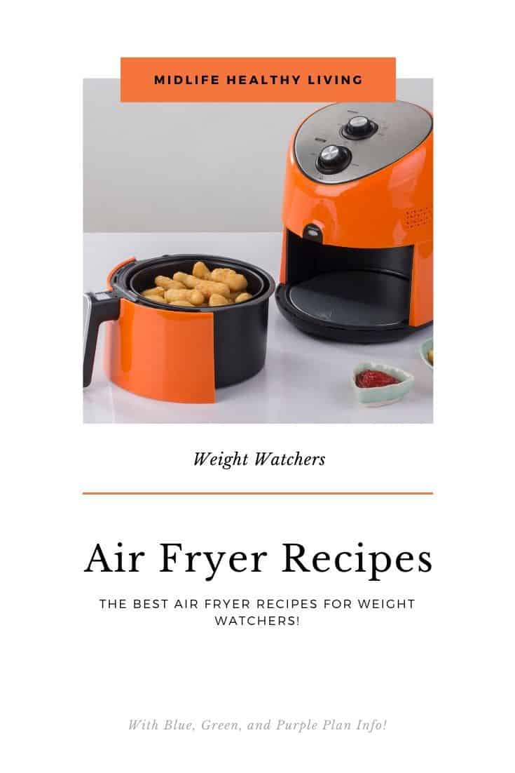 Pin for the air fryer landing page for WW
