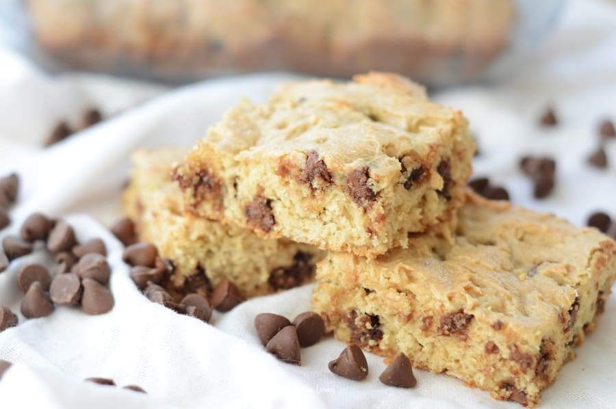 A closer look at the finished Weight Watchers chocolate chip cookies recipes