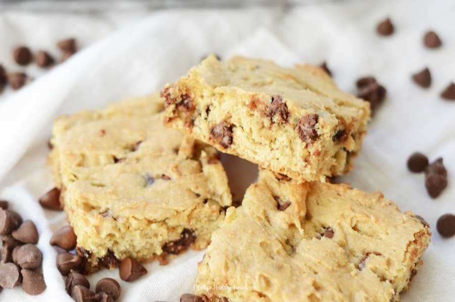 Featured image showing the finished Weight Watchers chocolate chip cookies