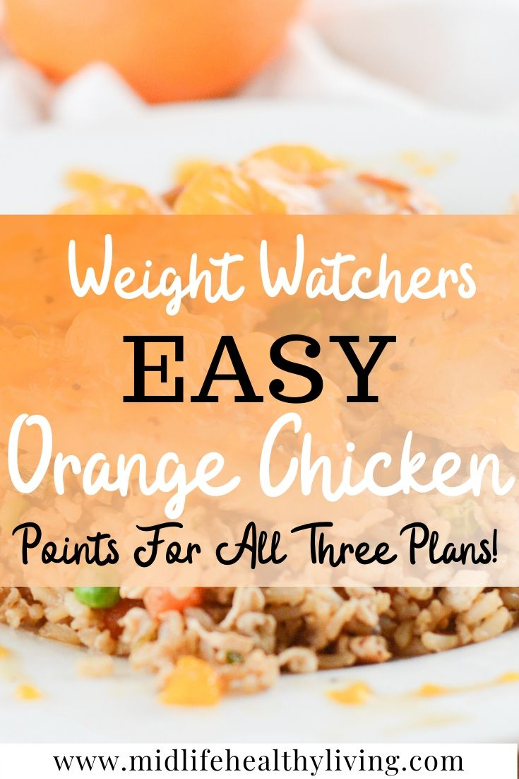Here we see a pin for the healthy WW chicken recipe with oranges.
