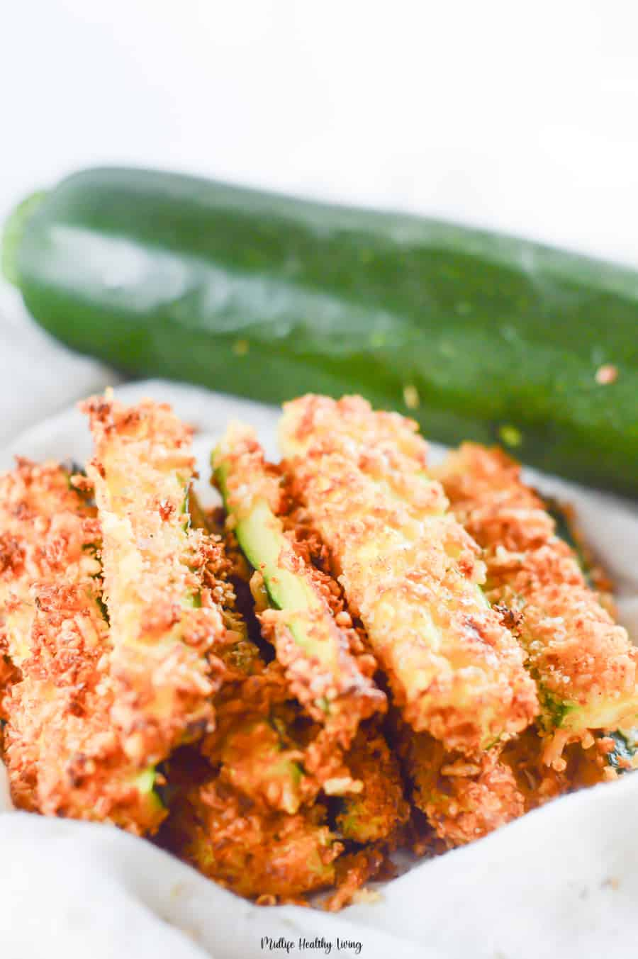 A final look at the finished zucchini fries recipe!