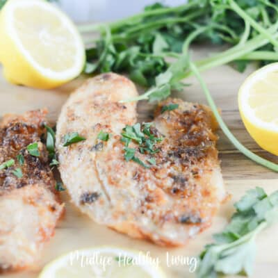 featured image showing the finished weight watchers tilapia recipe made in the air fryer.