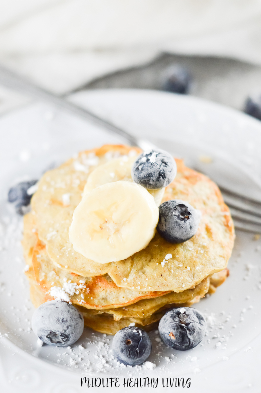 A top down look at these delicious finished pancakes for Weight Watchers.