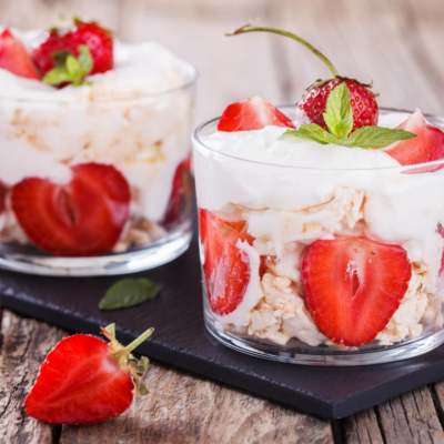 A weight watchers cool whip recipe finished and ready to share.