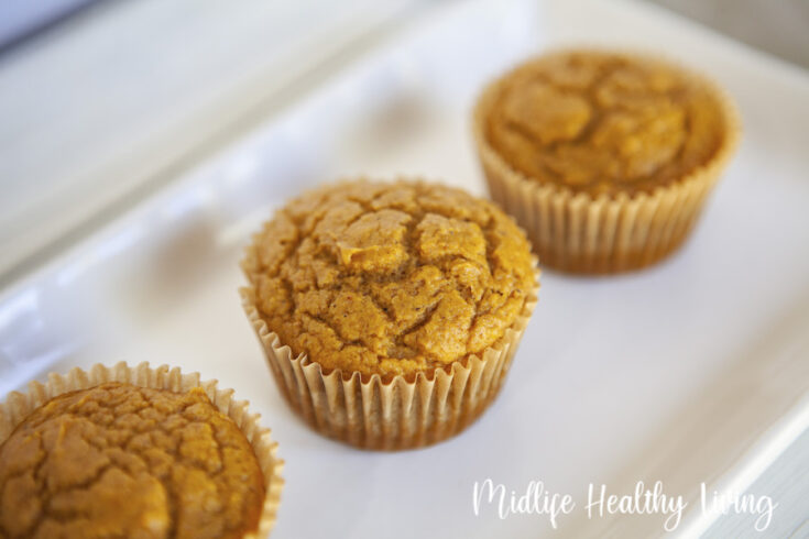 Finished weight watchers pumpkin muffins ready to be enjoyed or shared.