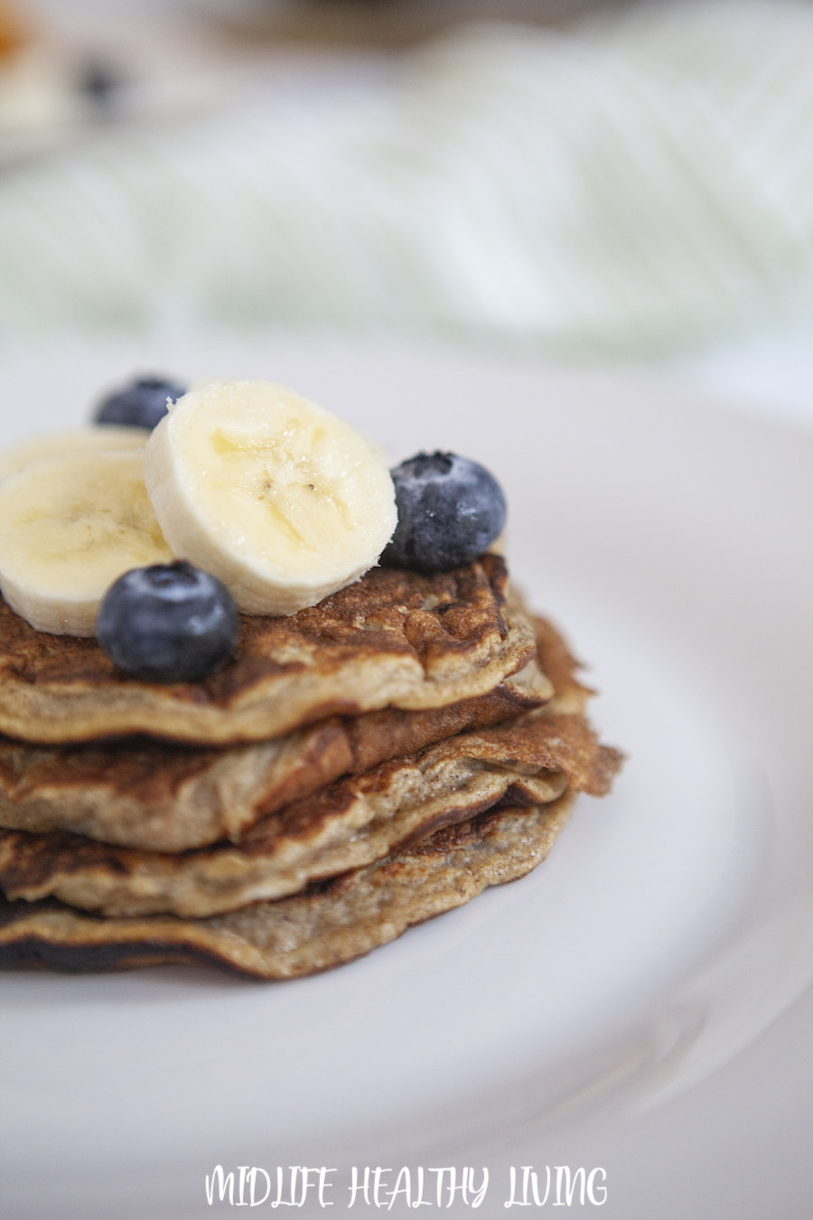 Here we see a stack of the ww banana pancakes ready to eat.