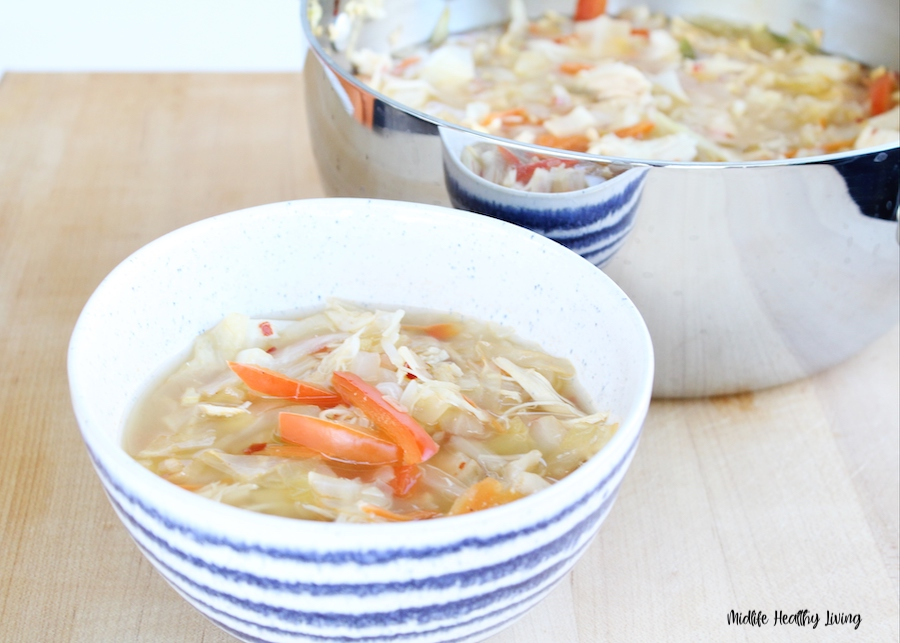 a finished bowl of soup ready to eat.