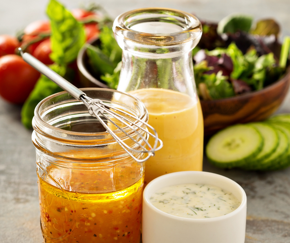 Some of the best dressings for weight watchers ready to serve.