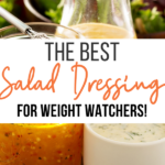 Pin showing the finished best salad dressings for weight watchers with title across the middle.