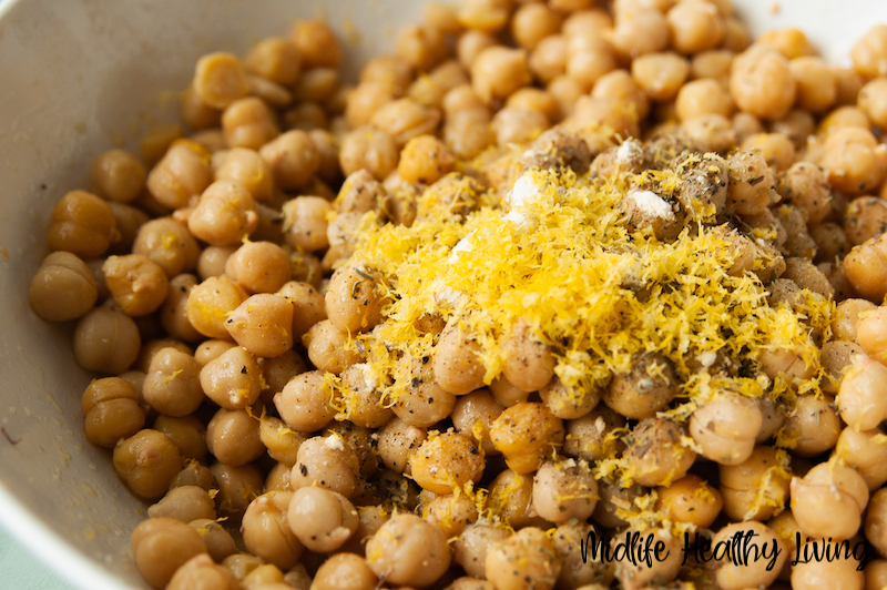 Seasonings added to the chickpeas