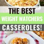 Pin showing the weight watchers breakfast casseroles ready to eat.