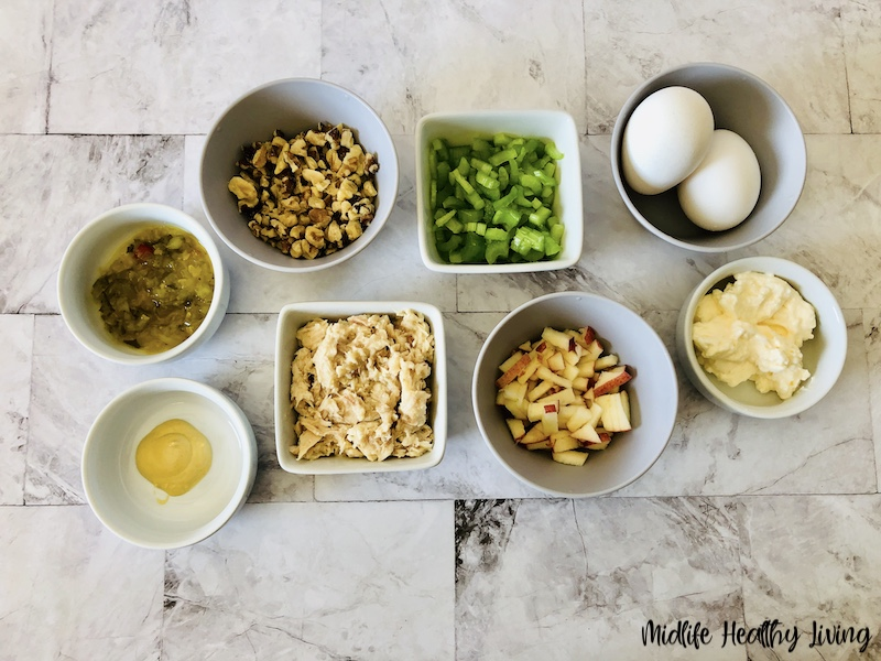 Ingredients needed to make weight watchers tuna salad.