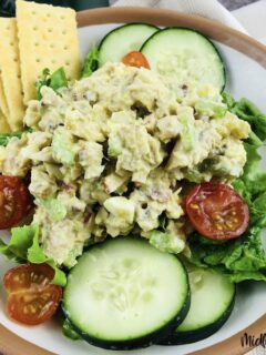 Featured image showing the finished weight watchers tuna salad ready to eat.