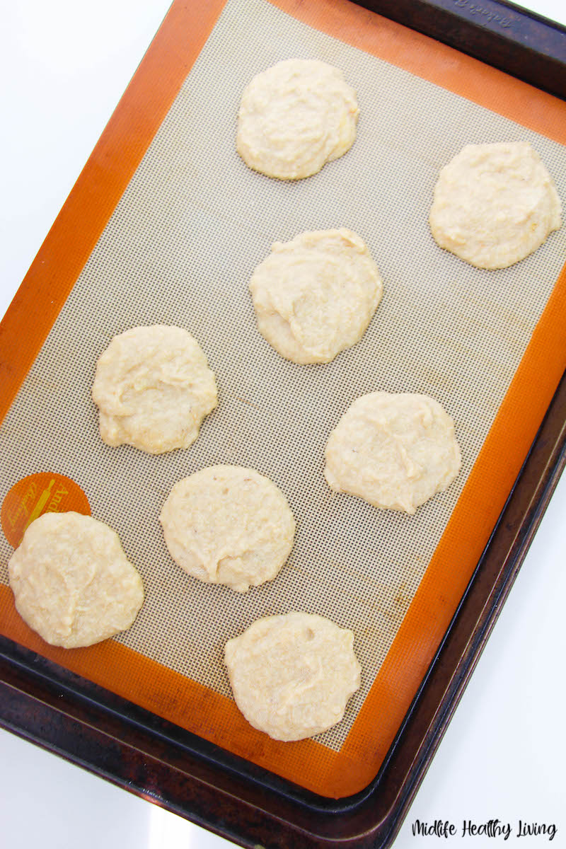 Cookies ready to be put into the oven.