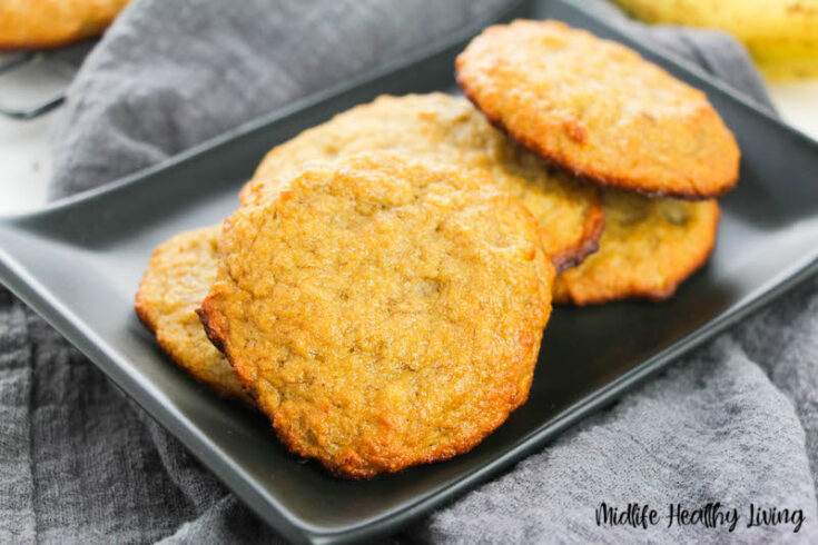 Featured image showing the finished banana cookies recipe ready to eat.