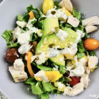featured image showing a bowl full of weight watchers southwest chicken salad ready to eat.