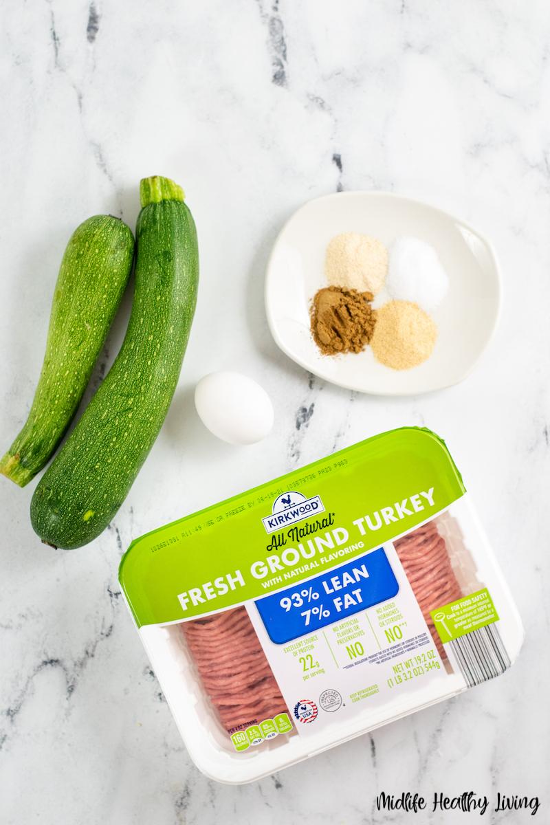 ingredients needed for making weight watcher turkey burgers.