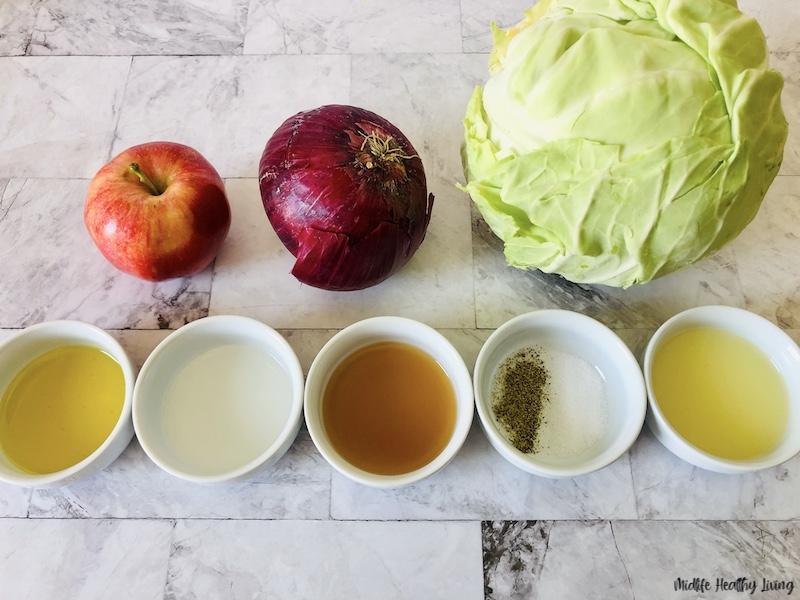 ingredients needed to make weight watchers coleslaw recipe no mayo.