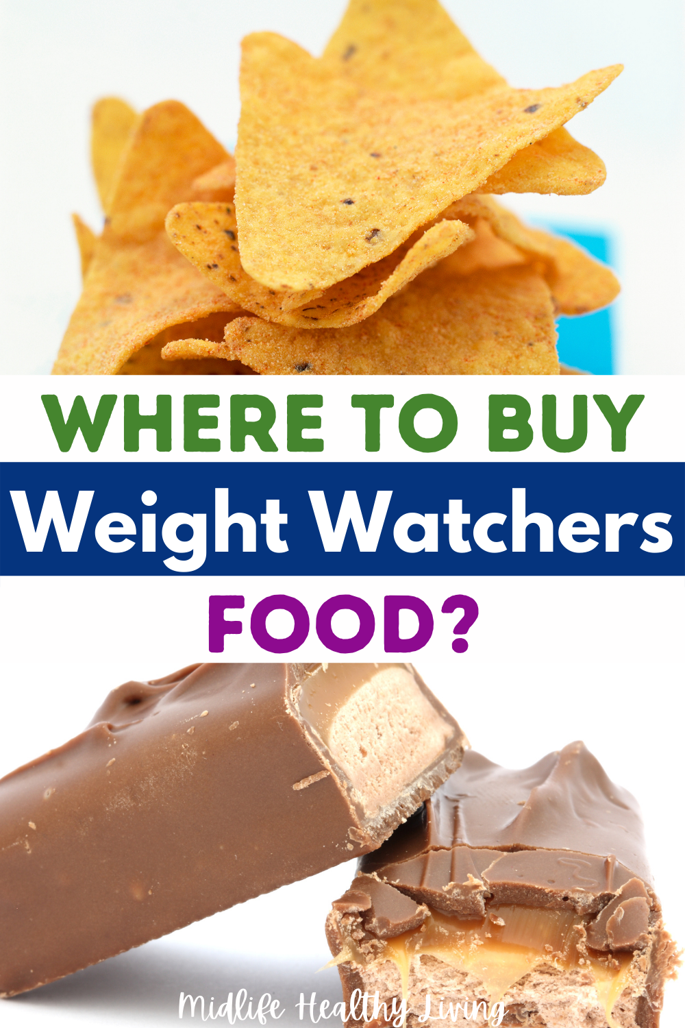 Pin showing the question where to buy weight watchers food.