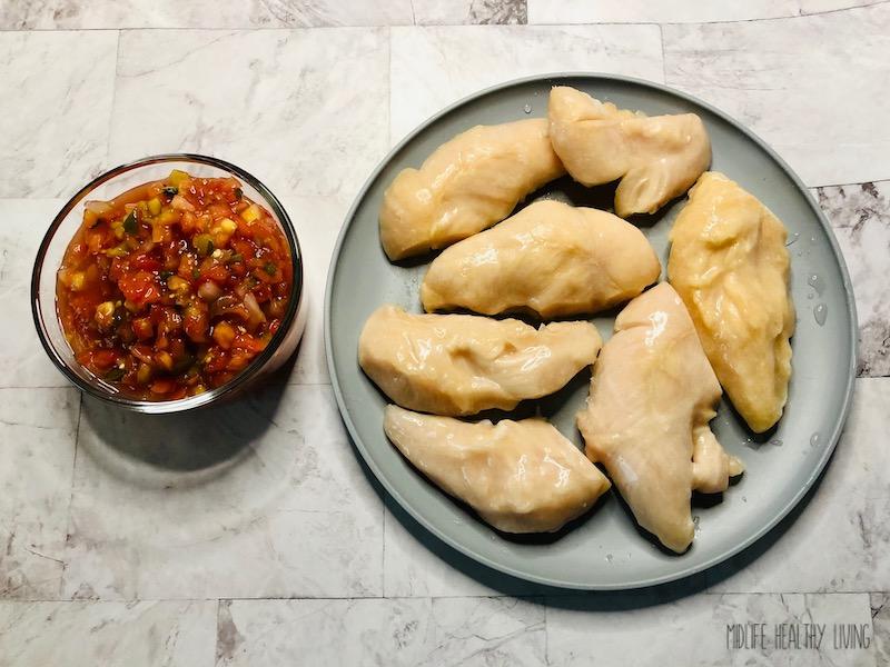 ingredients needed to make salsa chicken