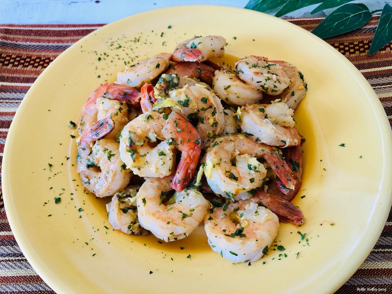 Another look at the weight watchers shrimp recipe finished and ready to eat.