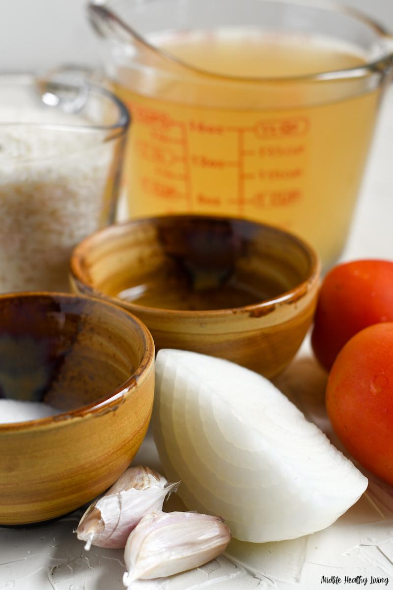 ingredients for making ground turkey burritos for Weight Watchers.